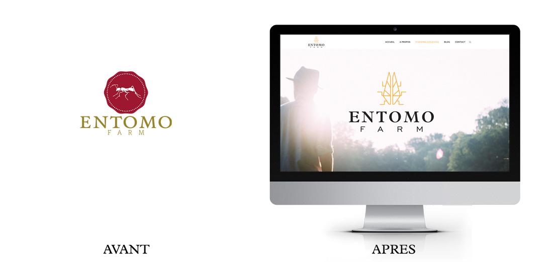 Nouveau site web nouveau logo Entomo Farm
